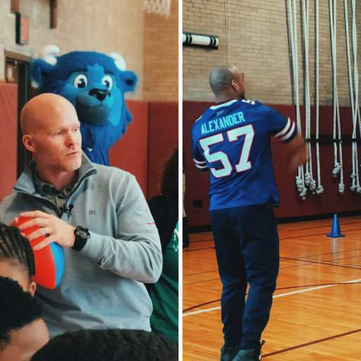 The Buffalo Bills Visit Our Schools